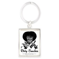dirty sanchez dos Portrait Keychain