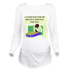 pinball Long Sleeve Maternity T-Shirt