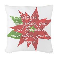 Homesick at Christmas Woven Throw Pillow