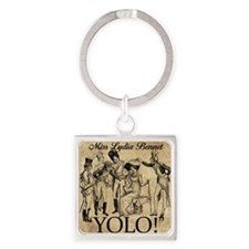 Lydia Bennet YOLO Square Keychain