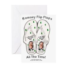 Anti Mitt Romney Flip Flop T-shirt Greeting Card