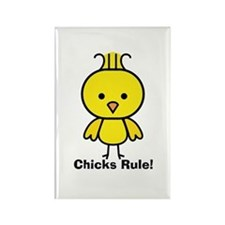 Chicks Rule! Rectangle Magnet