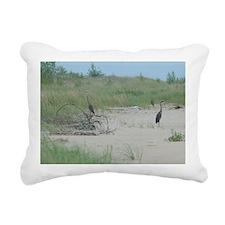 GreetingCard_Crane_1 Rectangular Canvas Pillow