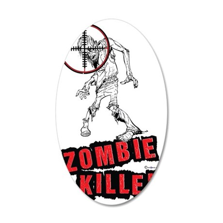 Zombie Killer 2 35x21 Oval Wall Decal