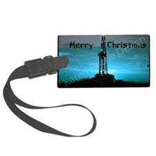 Oilfield Christmas Luggage Tag