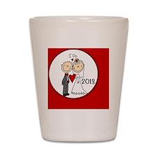 I Do Bride and Groom 2013 Shot Glass