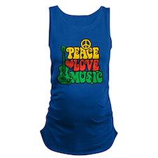 Reggae Peace Love Music Maternity Tank Top