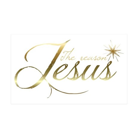 Jesus is the reason for the seaso 35x21 Wall Decal