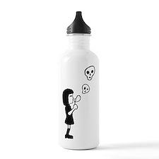 dead skull soap bubble Water Bottle