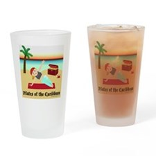 Pilates of the Caribbean Drinking Glass