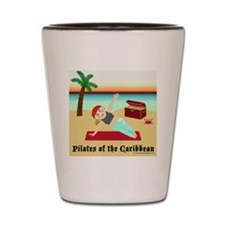 Pilates of the Caribbean Shot Glass
