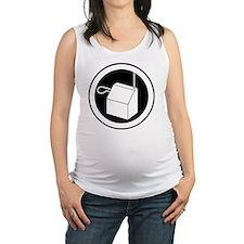 theremin instrument logo Maternity Tank Top