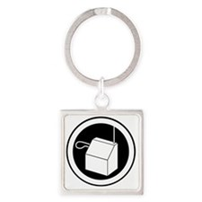 theremin instrument logo Square Keychain