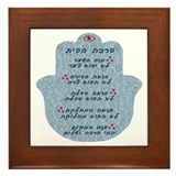 Framed Hamsa Blessing for the Home