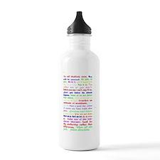 White Slogan Journal B Water Bottle