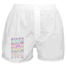 White Slogan Journal Front Boxer Shorts
