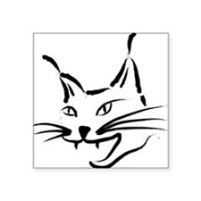 "lynx cougar wild cat bobcat Square Sticker 3"" x 3"""