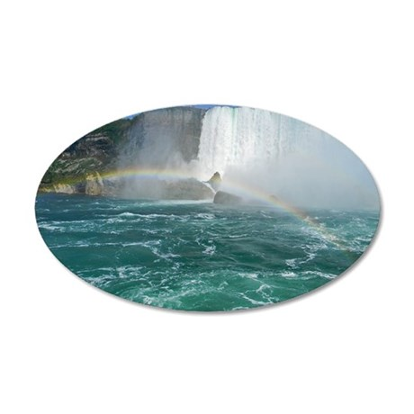 Rainbow and Bridal Falls 35x21 Oval Wall Decal