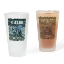 Silver Fox Retired Drinking Glass