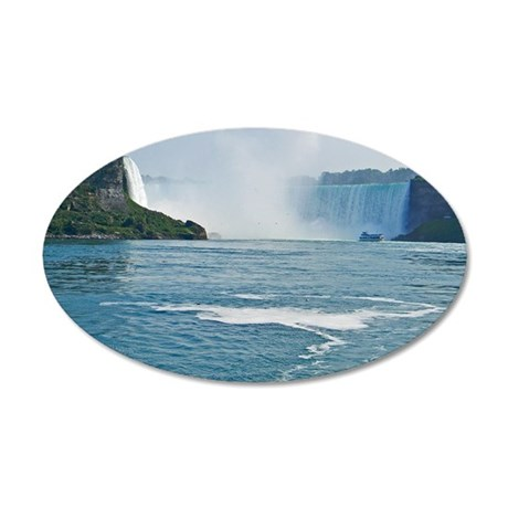 Maid of the Mist and Horsesh 35x21 Oval Wall Decal