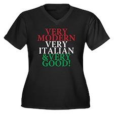 Italian Prid Women's Plus Size Dark V-Neck T-Shirt