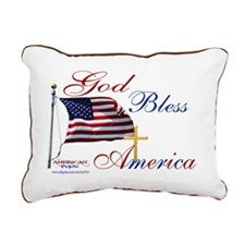 God Bless America yard s Rectangular Canvas Pillow