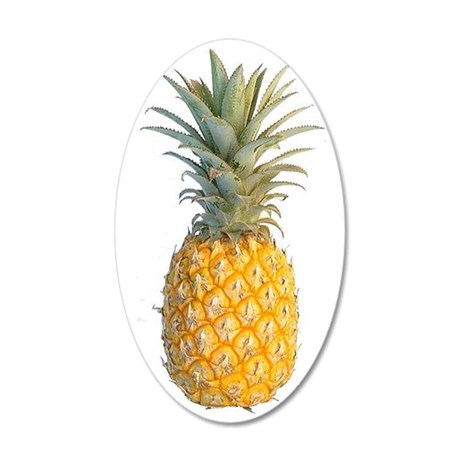 PINAPPLE 35x21 Oval Wall Decal