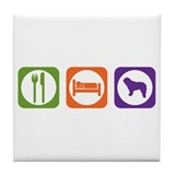 Eat Sleep Bergamasco Tile Coaster