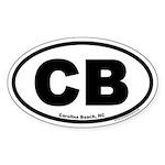 Carolina Beach, North Carolina Oval Sticker