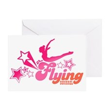 Tshirts-Stars-Logo-Rainbow-Pink Greeting Card