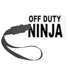 Off Duty Ninja Luggage Tag