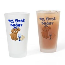 my first Seder Drinking Glass