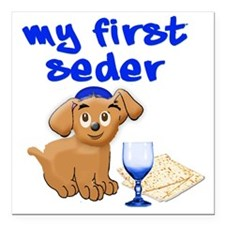 "my first Seder Square Car Magnet 3"" x 3"""