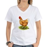 Golden Sex-link Hen Women's V-Neck T-Shirt
