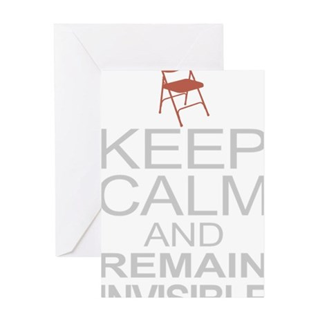 Obama Empty Chair - Remain Invisible Greeting Card