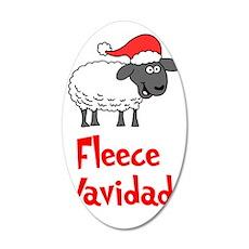 Fleece Navidad Stocking 35x21 Oval Wall Decal
