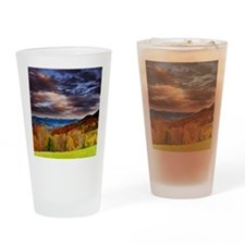 Fall Mountains Drinking Glass