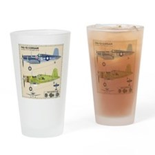 F4U Corsair Cutaway Drinking Glass