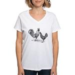California Grey Chickens Women's V-Neck T-Shirt