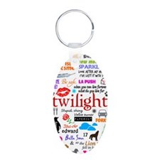Twilight Aluminum Oval Keychain