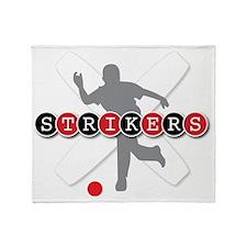 Strikers White Throw Blanket