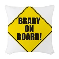 Brady On Board Woven Throw Pillow