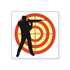 "shooting sports Square Sticker 3"" x 3"""