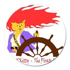 Pirate Queen Round Car Magnet
