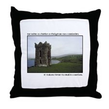 Takes Time to Build a Castle. Throw Pillow