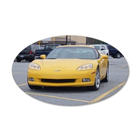 Corvette 35x21 Oval Wall Decal