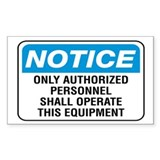 Authorized Personnel - Rectangle Decal