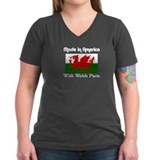 Welsh Parts Women's Black V-Neck