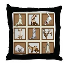 Ferret Tote Art Throw Pillow