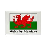 Welsh by Marriage Rectangle Magnet